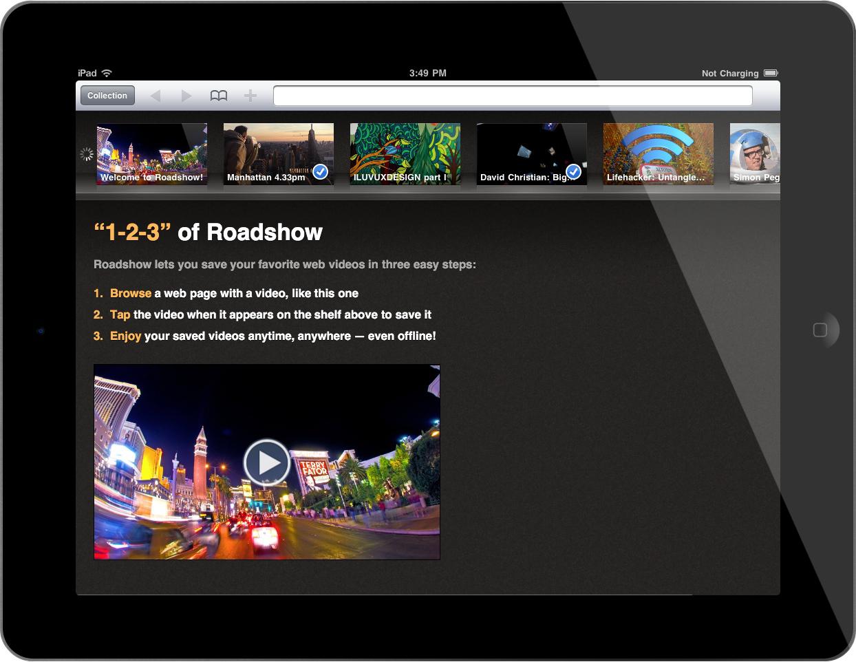 Roadshow for iPad
